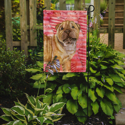 Carolines Treasures  BB9806GF Shar Pei Puppy Love Flag Garden Size