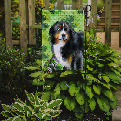 Carolines Treasures  BB9819GF Bernese Mountain Dog St Patrick's Flag Garden Size