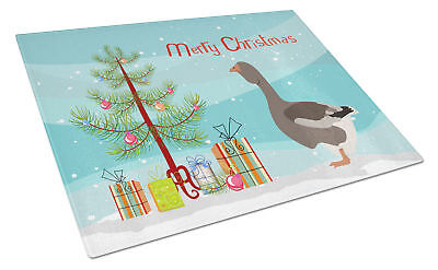 Toulouse Goose Christmas Glass Cutting Board Large