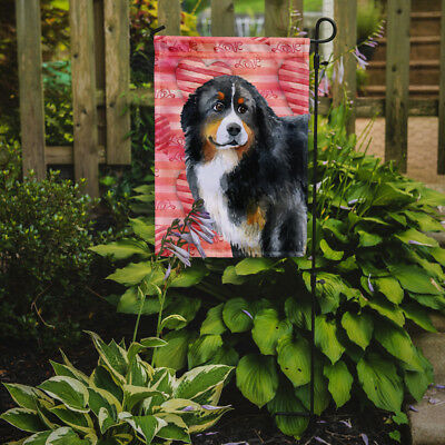 Carolines Treasures  BB9732GF Bernese Mountain Dog Love Flag Garden Size