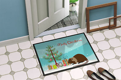 Coypu Nutria River Rat Christmas Indoor or Outdoor Mat 18x27