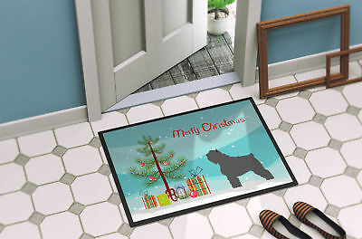 Bouvier des Flandres Christmas Indoor or Outdoor Mat 18x27