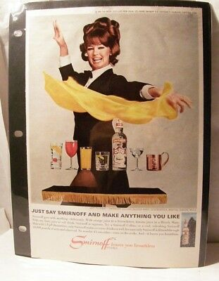 Vintage Print Ad / Smirnoff Vodka / AND MAKE ANYTHING YOU LIKE / Lady Magician