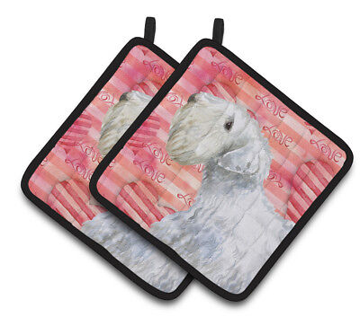 Carolines Treasures  BB9771PTHD Sealyham Terrier Love Pair of Pot Holders