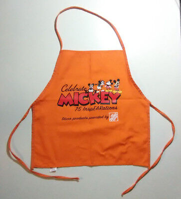Home Depot Celebrate Mickey Mouse Apron Disney Orange 75 Inspearations