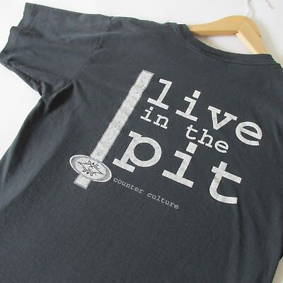 Vintage 90s Counter Culture Live In The Pit Men's Unisex T-Shirt Skateboarding