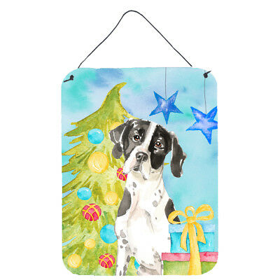 Christmas Tree English Pointer Wall or Door Hanging Prints