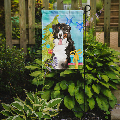 Christmas Tree Bernese Mountain Dog Flag Garden Size