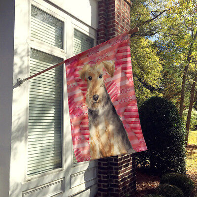 Carolines Treasures  CK1747CHF Love a Welsh Terrier Flag Canvas House Size