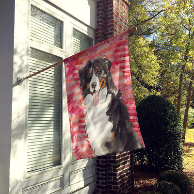 Love a Bernese Mountain Dog Flag Canvas House Size