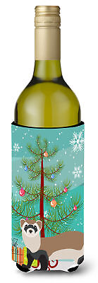 Ferret Christmas Wine Bottle Beverge Insulator Hugger