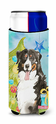 Christmas Tree Bernese Mountain Dog Michelob Ultra Hugger for slim cans