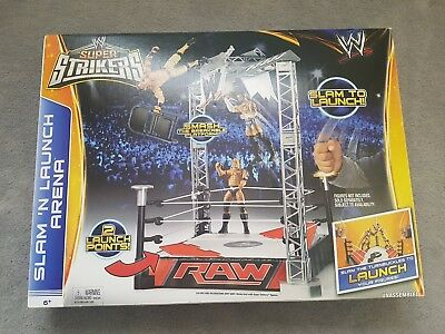 2a0e55bf360c Super Strikers Slam N Launch Arena Wrestling WWE Raw Toy Playset New