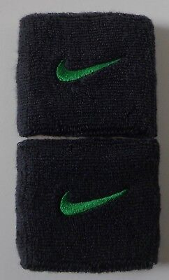 Nike Swoosh Wristbands Anthracite / Apple Green Mens Women's OSFM