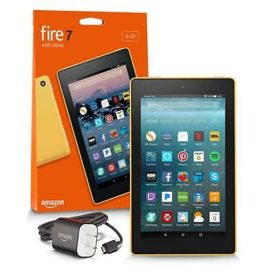 "Fire 7 Tablet w/ Alexa 7"" 16GB Canary Yellow - w/ Special Offers Brand NEW"