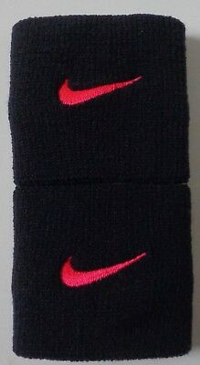Nike Tennis Premier Wristbands Black / Hyper Pink Mens Women's OSFM