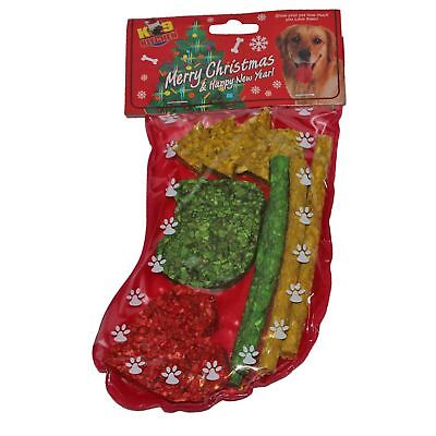 K9 Kitchen Christmas Stocking Filled with Rawhide Dog Chew Treats