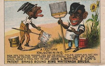 RARE Trade Card Booklet Brochure 1880 John Whiting Paint Brushes Black Americana