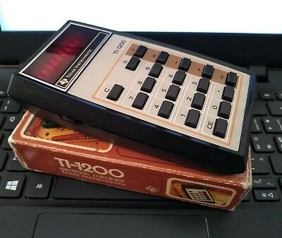 Perf ++ calcolatrice Texas Instruments TI-1200 Boxed & Working Mint