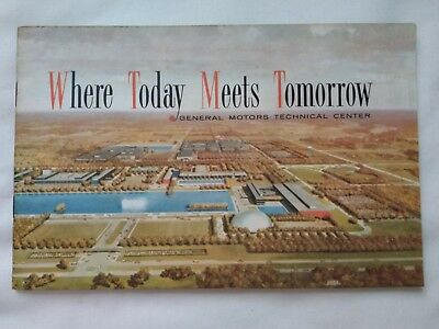 Vintage General Motors Brochure Where Today Meets Tomorrow Technical Center MCM