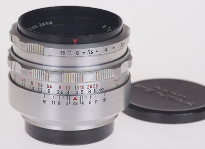 Carl Zeiss Jena Tessar 50mm f2.8 M42 Screw  Mount Universal lens - Good Cosmetic