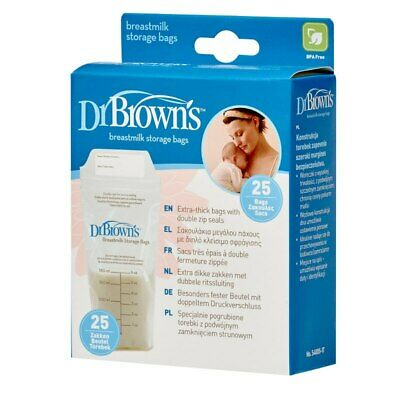 Dr Brown's Breast Milk Storage Bags 25pk