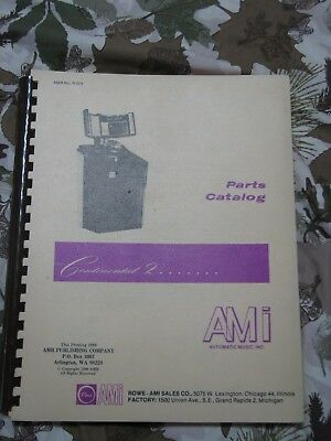 AMI Continental 2 Jukebox Parts Catalog Spiral Bound (AMR No. R-373)
