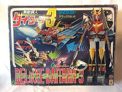 Daitarn 3 Clover Gambe Bianche  Completo Al 99% Vintage Made In Japan