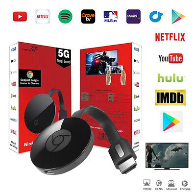 1080P Wifi Google Chromecast HDMI Digital Media Video Streamer 2nd3rd Generation