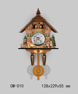 LE New Antique Multi Color German Cuckoo Clock Retro Wooden Wall Clocks
