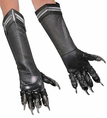 Captain America 3 Deluxe Black Panther Costume Gloves Child One Size