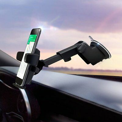 Long Arm Car Windshield Suction Cup Mount Rotating Stand Holder For Phones GPS