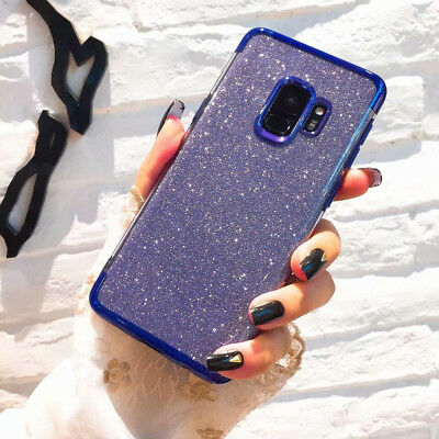 Luxury Women Bling Sparkly Glitter Phone Case Cover For Samsung Galaxy Note 9 S9