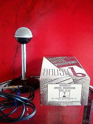 Vintage 1940s Brush BA-106 crystal microphone RARE old antique midcentury # 1