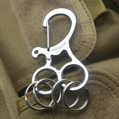 EDC Hard Stainless Key Holder Organizer Clip Folder Keychain Pocket Tool Xe