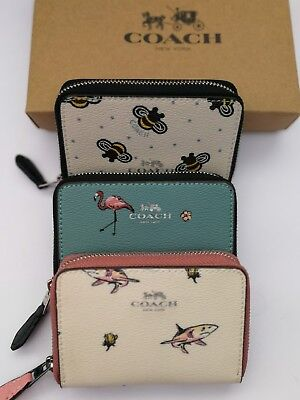 Coach Limited Edition Zip Coin Card Case Mini Wallets