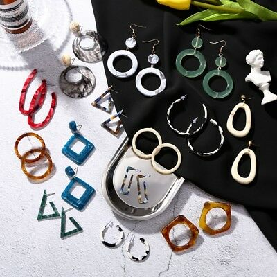 Fashion Women Acrylic Geometric Dangle Drop Ear Hook/Stud Earrings Jewelry