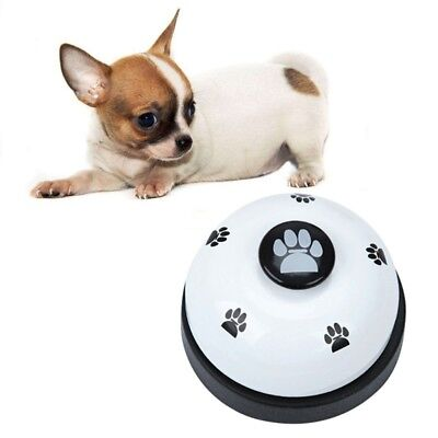 Pet Puppy Dog Cat Training Meal Bells Interactive Dinner Feeding Door Ring AU