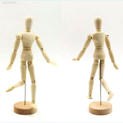 4C88 Wooden Manikin Mannequin 12Joint Doll Articulated Limbs Household Display