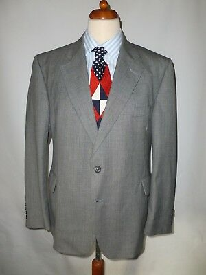 Austin Reed Grey Red Windowpane Check Mens Wool Full Suit Size 41r W34 L31 4i3 23 99 Picclick Uk