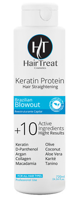 HairTreat Formaldehyde Free Brazilian Blowout Keratin Protein Hair Straightening