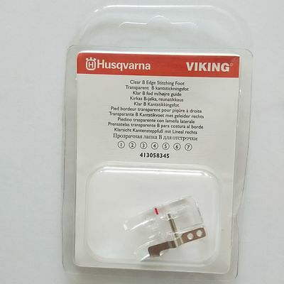 Clear B Edge Stitching Foot, Viking #4130583-45 413058345