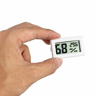 Mini Digital LCD Indoor Temperature Humidity Meter Thermometer Hygrometer White