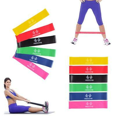 Resistance Band Exercise Yoga Belt Rubber Fitness Training Stretch New DH