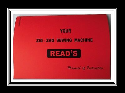 READ'S ZigZag sewing machine instructions Manual Booklet