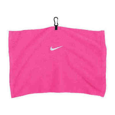 GOLF TOWEL - Pink Nike Golf Swoosh Embroidered Towel