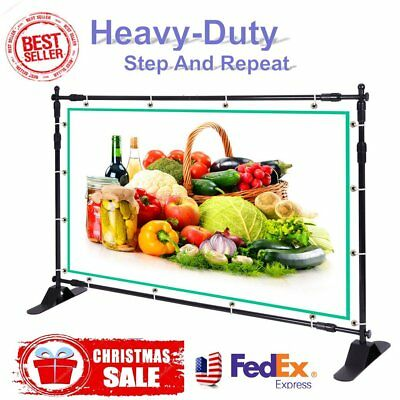 Sign Display Black Retractable Roll Up Banner Stand Trade Show New Adjustable AQ