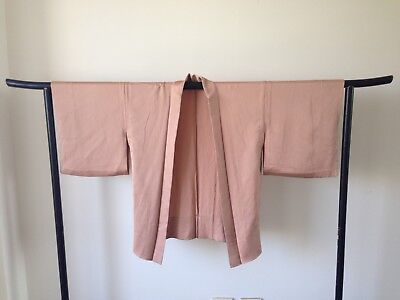 Peach Silk Haori Jacket Vintage Authentic Japanese One of a Kind Hand Made