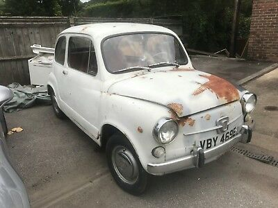 fiat 600d 1967 e reg drives really well great classic needs painting restoring