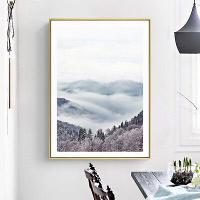 5D Nordic Mountain Art Painting Unframed Canvas Picture Home Office Deco Braw